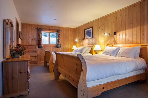 bell 2 lodge chalets deluxe room downstairs preview. Photo - Andrew Doran