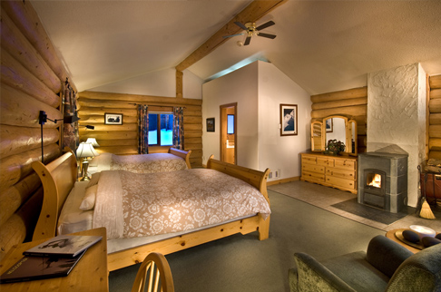 chalets deluxe room at bell 2 lodge. Photo - Andrew Doran