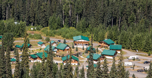 Bell 2 Lodge aerial preview banner. Photo - Steve Rosset