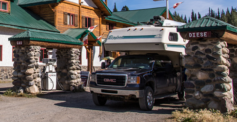 RV Gas Station Bell 2 Lodge. Photo - Steve Rosset