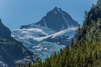 bear glacier, lilouet peak, blue ice, near stewart and bell 2 lodge