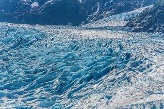 Blue ice on the Bear Glacier. Photo - Steve Rosset