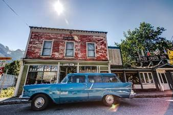 downtown stewart bc in the summer time. Photo - Steve Rosset