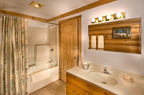 chalets camping deluxe room bathroom. Photo - Andrew Doran