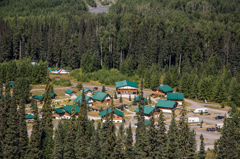 bell 2 lodge summer helicopter aerial view. Photo - Steve Rosset