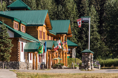 main entrance of bell 2 lodge, northern bc canada. Photo - Steve Rosset