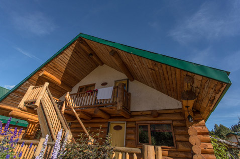 bell 2 lodge wood chalets rustic and comfortable. Photo - Steve Rosset