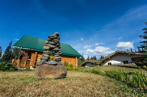 stone sculpture bell 2 lodge. Photo - Steve Rosset