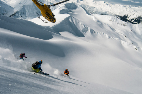 Alpine heliski run. Photo - Dave Silver