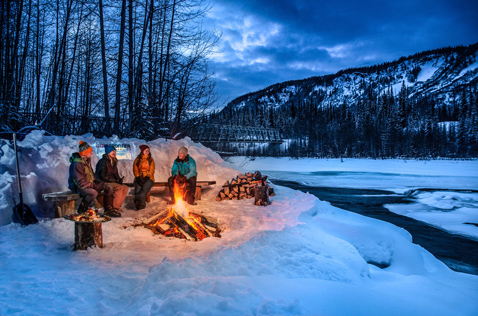 Campfire by the Bell river. Photo - Greg Foster