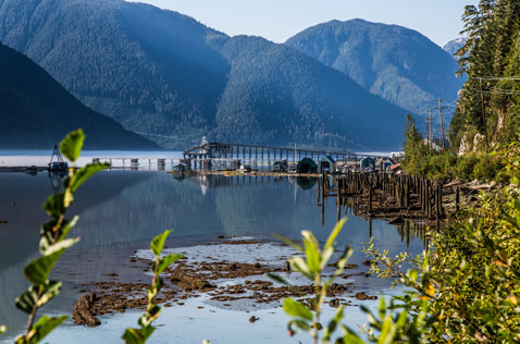 Portland Canal and shipping docks, Stewart BC. Photo - Steve Rosset
