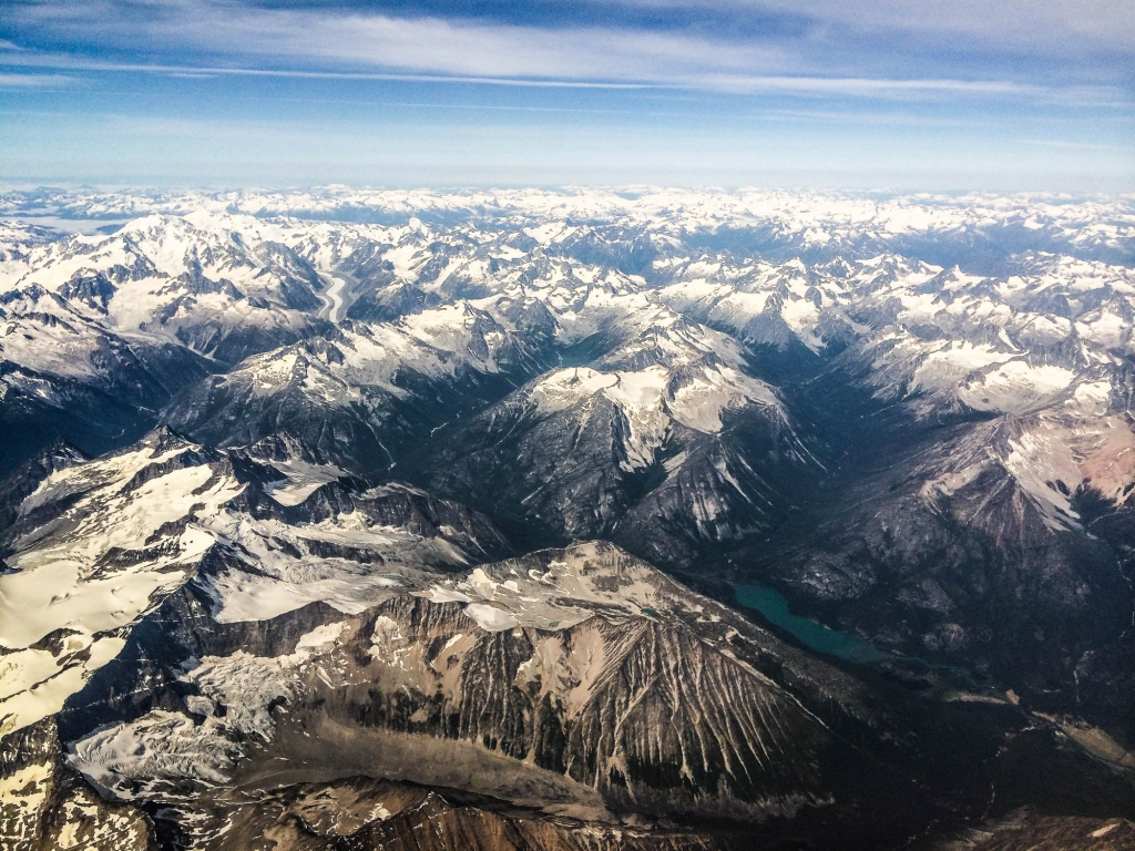 """""""Mountains and treachery in Northern BC, as far as the eye can see. Better stay close."""" Photo - Mike Watling"""